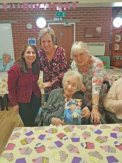 3 women with 100-year old