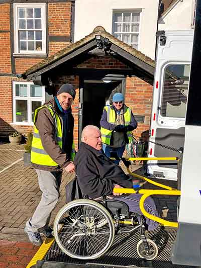 wheelchair loading on to van
